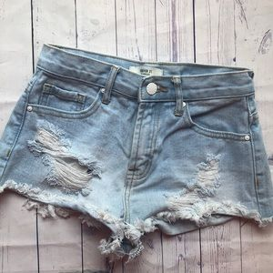 Forever 21 denim cheeky shorts